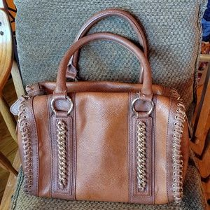 Aldo Russet Brown Chain Detail Handbag